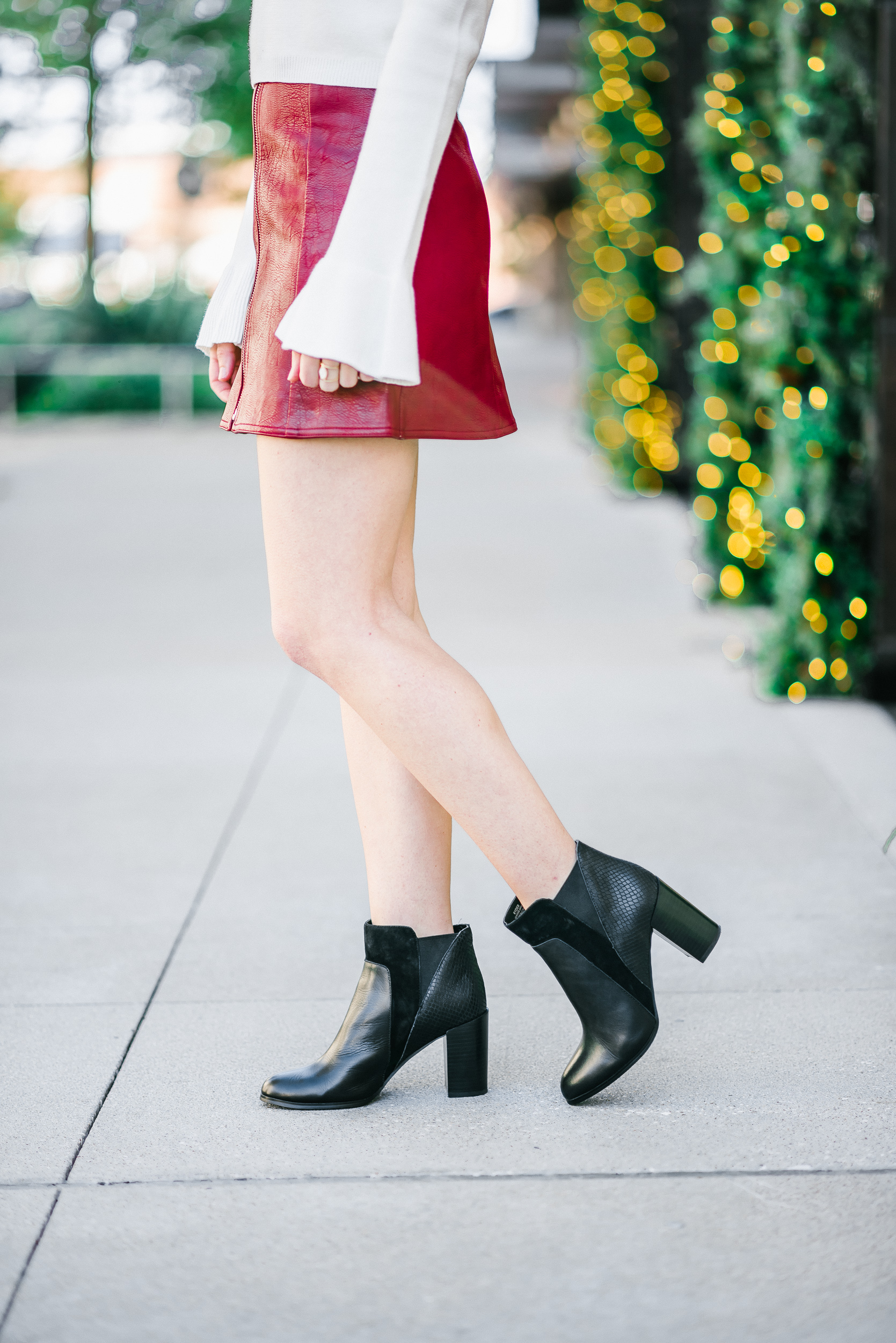 Bell Sleeves Leather Mini Skirts It S All Chic To Me